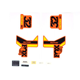 Fox Racing Shox Decal Kit voor 32 SC F-S, black/yellow/shiny orange
